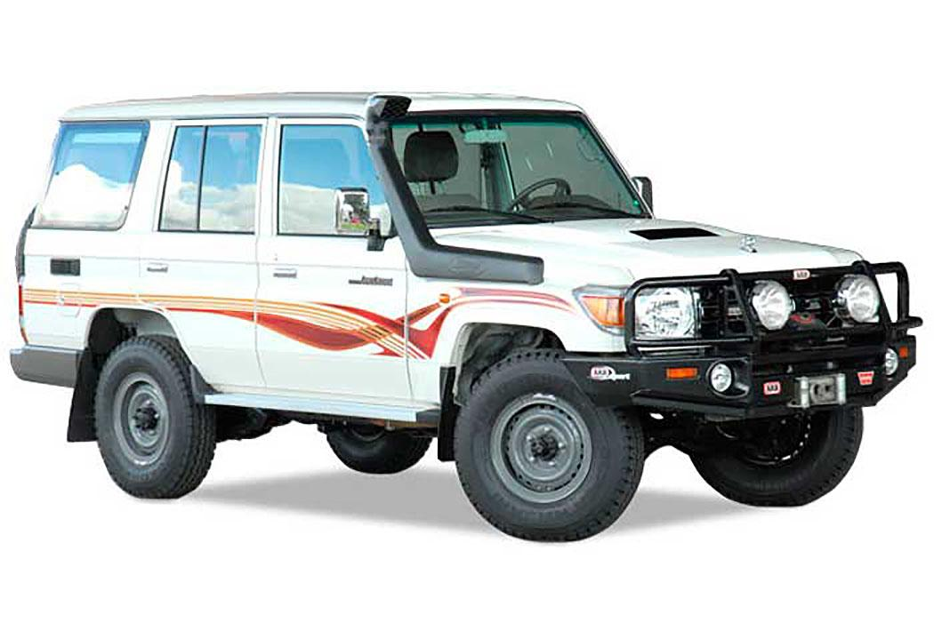 SAFARI SNORKEL TO SUIT TOYOTA LANDCRUISER  71, 73, 75, 76, 78, & 79 Series, Wide Front, 07 On 1GR-FE 4.0L V6 Petrol (SS76HFE)
