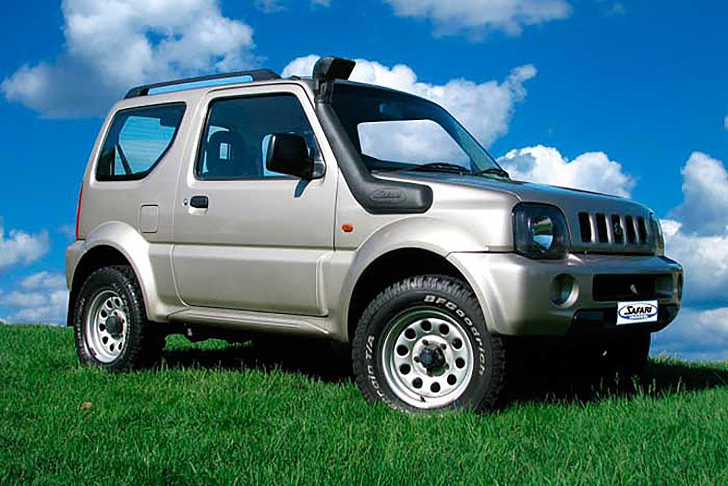 SAFARI SNORKEL TO SUIT SUZUKI JIMNY 98-12/04 & 01/05 On, 1.3L 4 Cyl. Petrol Engines (G13B, M13A, M13A VVT) (SS820R)