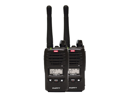 GME TX677TP 2 Watt UHF CB Handheld radio - Twin pack