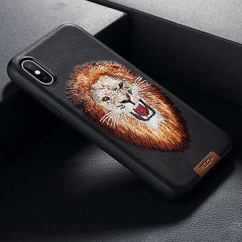 Woven Warrior Embroidered  iPhone X Case,