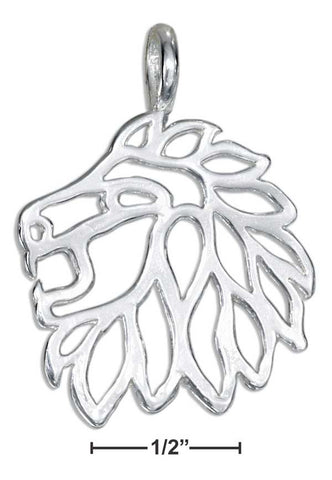 Lion at Heart Sterling Silver Pendant