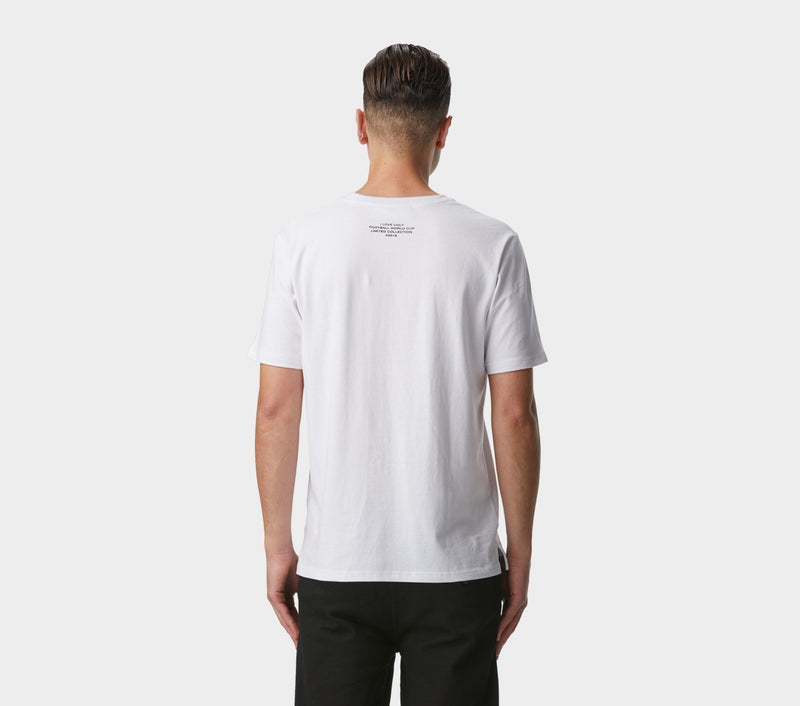 Crowd Print Tee - White