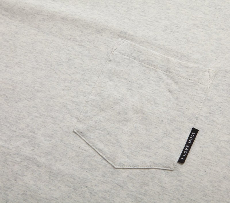 Easy Pocket Tee - White Speckle