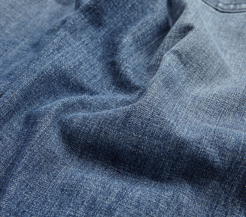 Tapered Denim - Wrecked Blue