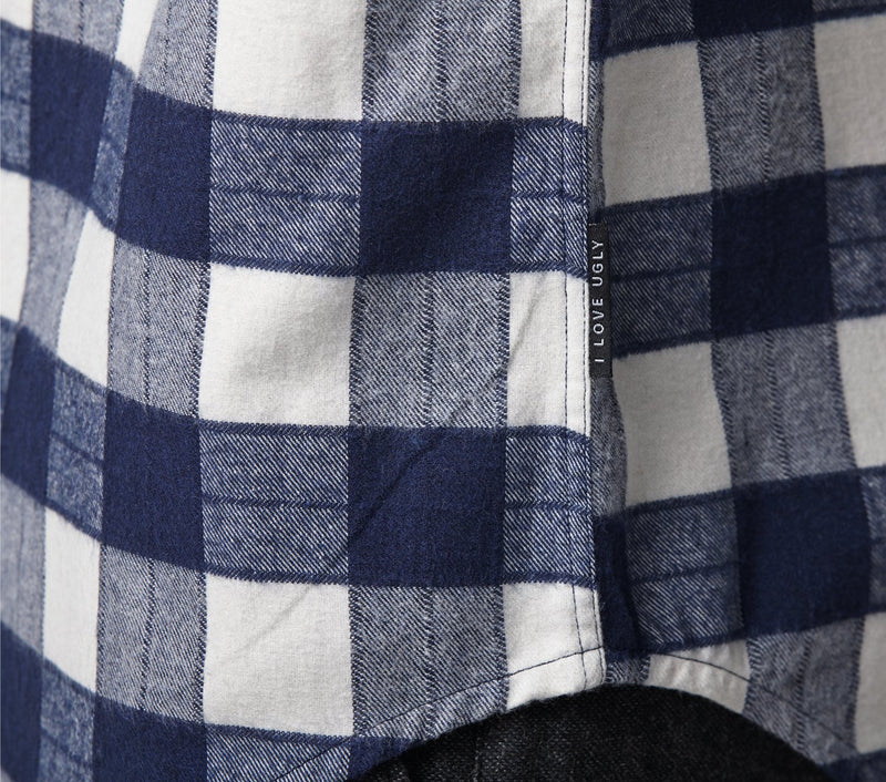 Casual Check Shirt - Navy