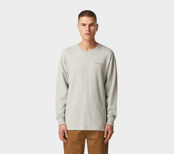 Script Long Sleeve Tee - Vintage Grey