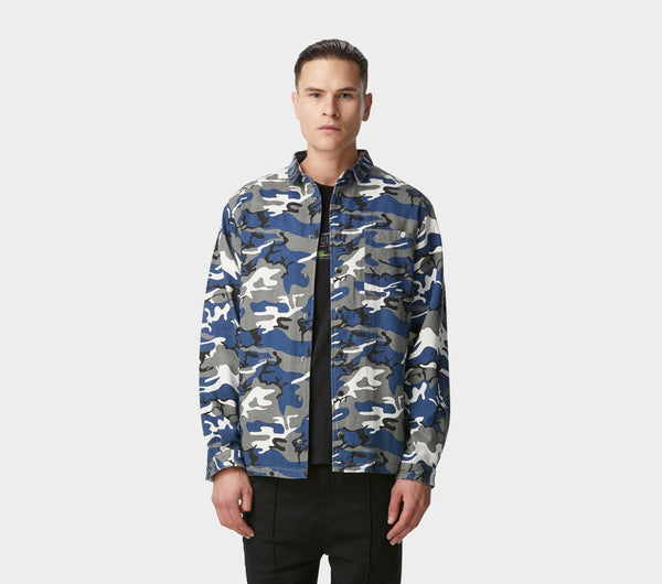 Coaches Jacket - Navy Camo