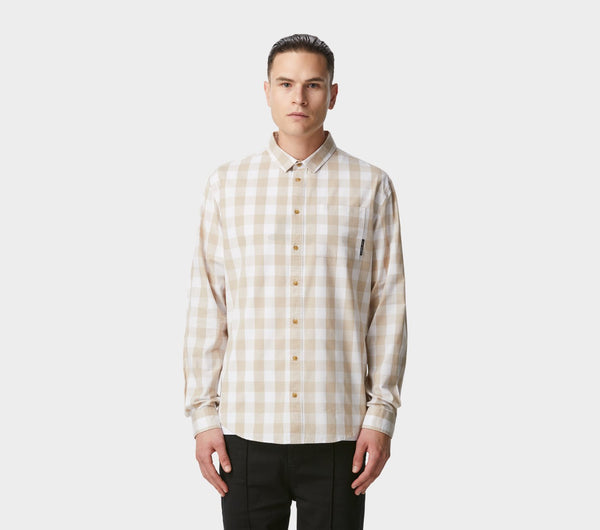 Essential Check Shirt - Oatmeal/White