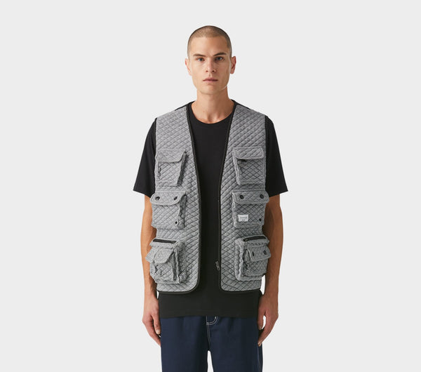 Vardy Military Vest - Pepper Grey