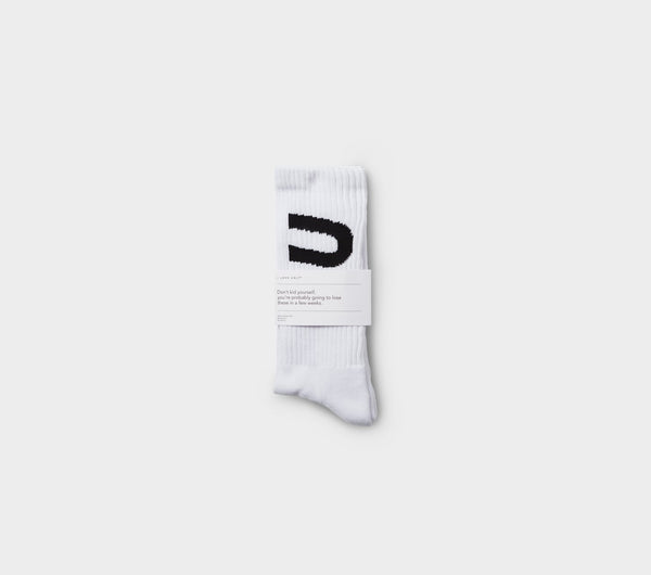 Athletic Sock - White/Black