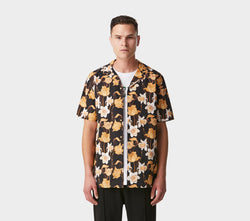 Cuban Collar SS Shirt - Datura