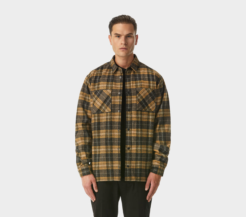 Check Overshirt - Brown