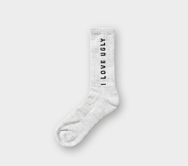Vertical Logo Sock - Vintage Grey