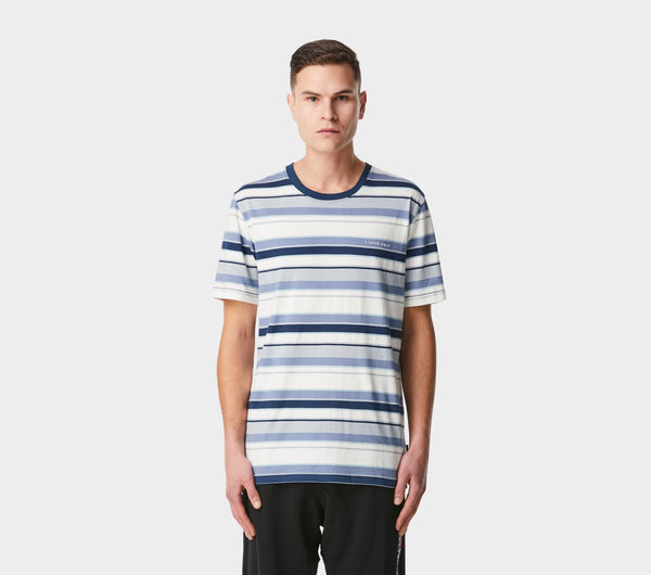 Multiple Stripe Tee - Blue