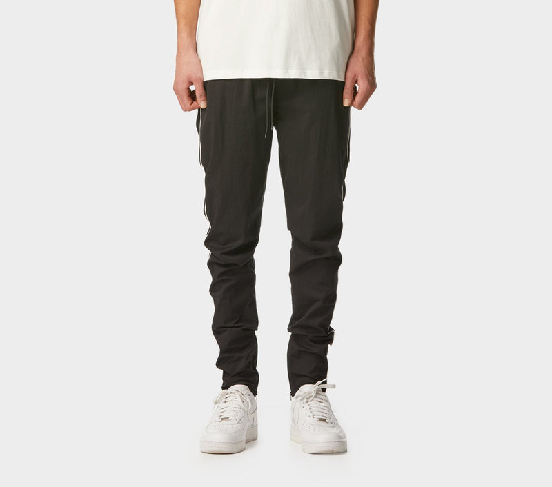 Piped Zespy Pant Mid Rise - Black