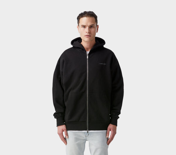 Box Fit Zip Hood - Black