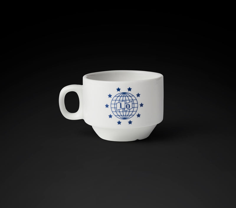 10 Year Anniversary Coffee Cup - White