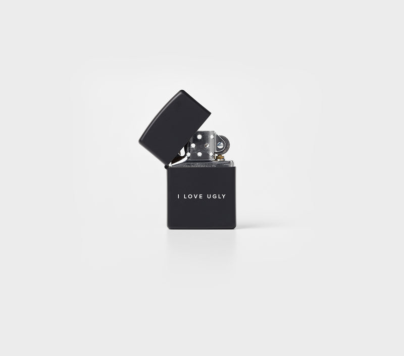 Word Logo Zippo Lighter - Black