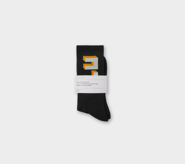 ILU Block Sock - Black