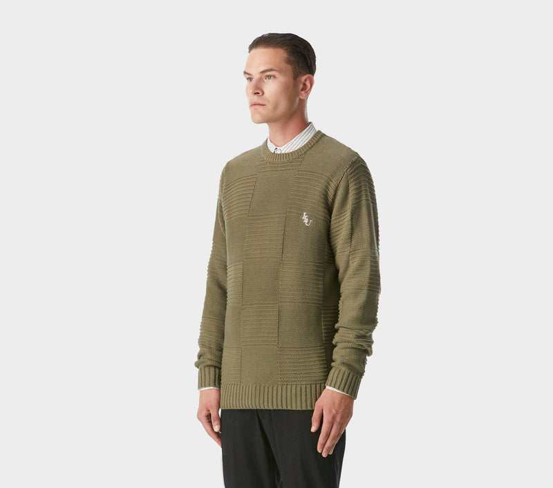 Alza Square Sweater - Olive