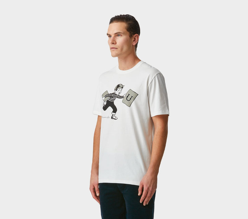 Book Boy Tee - Winter White