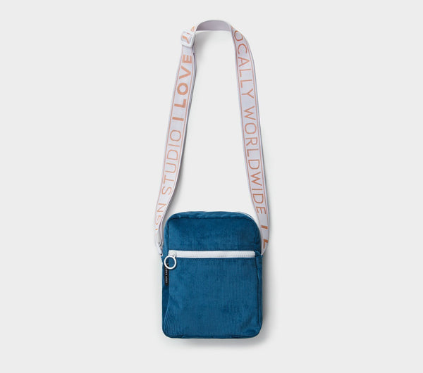 Wallace Messenger Bag  - Dusk Blue Corduroy