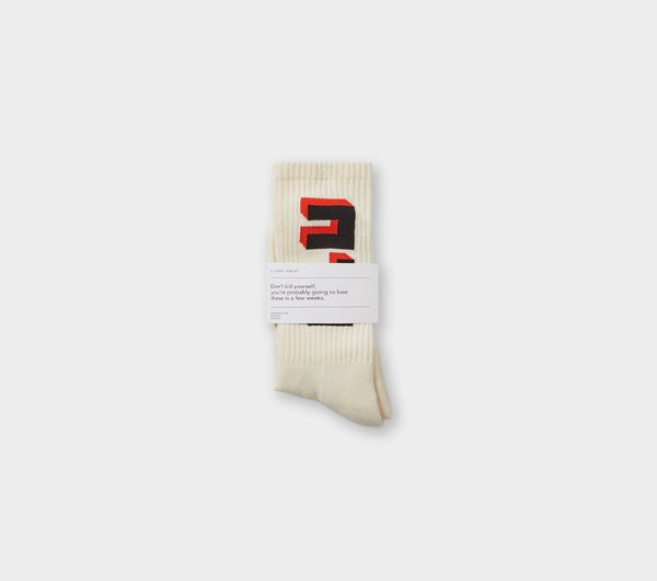 ILU Block Sock - Winter White