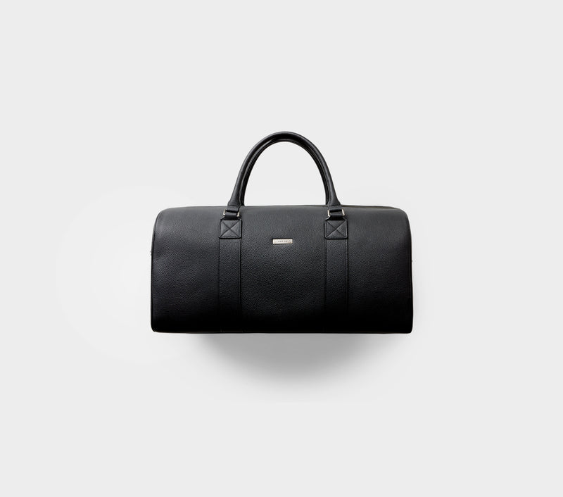 Duffle Bag - Black Leather