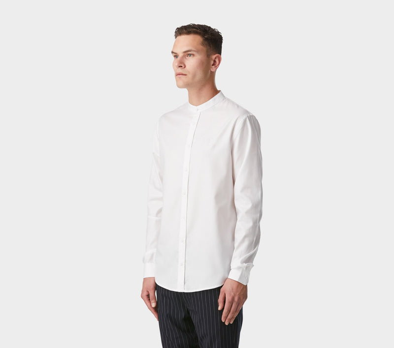 Mandarin Collar Miro Shirt - White