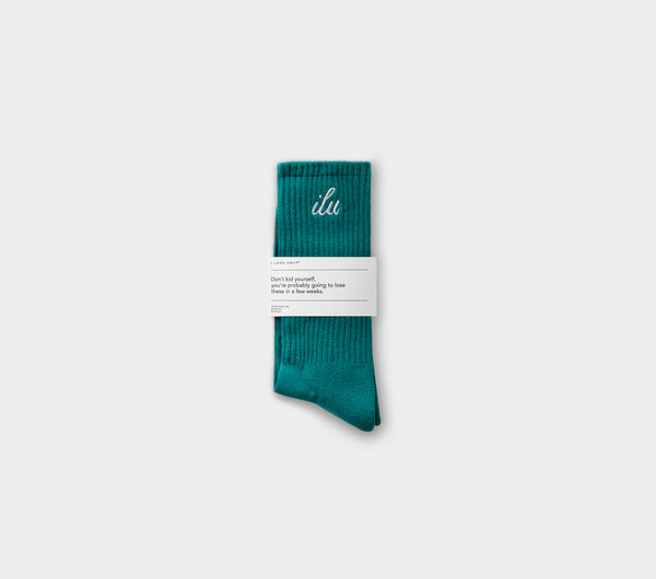 Shorthand Sock - Deep Teal