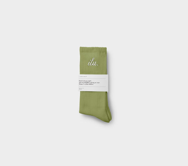 Shorthand Sock - Moss Green