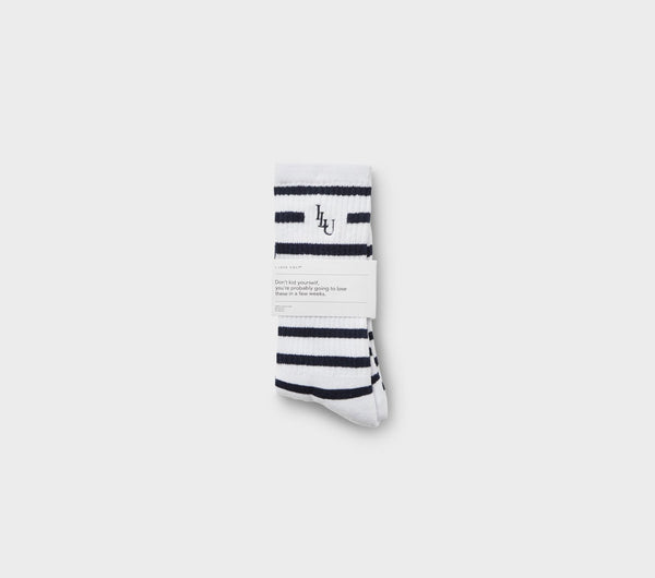 Stripe Sock - White