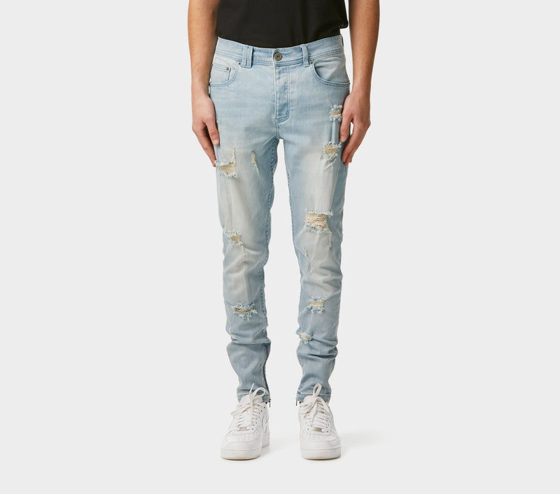 Smart Zespy Pant Denim - Heavy Distressed