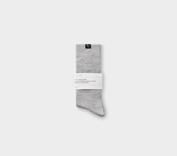 Ribbed Sunday Sock - Vintage Grey