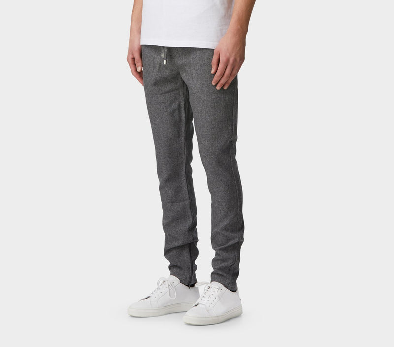 Textured Zespy Pant Mid Rise - Charcoal