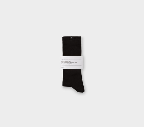 Ribbed Sunday Sock - Black