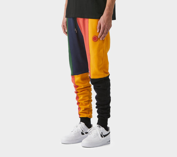 Mid Rise Zespy Trackie - Melon Panel