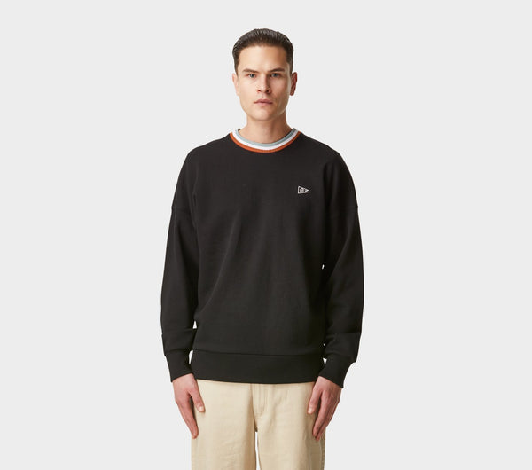 Stripe Ribbed Wallace Crew - Black