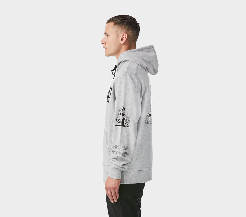 Car Wreck Hood - Vintage Grey