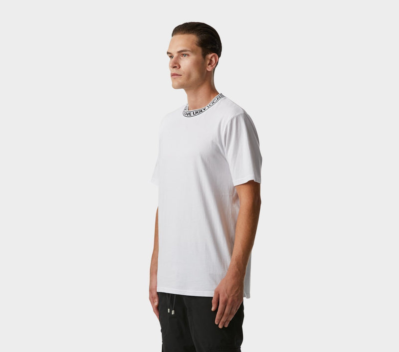 Neck Logo Tee - White