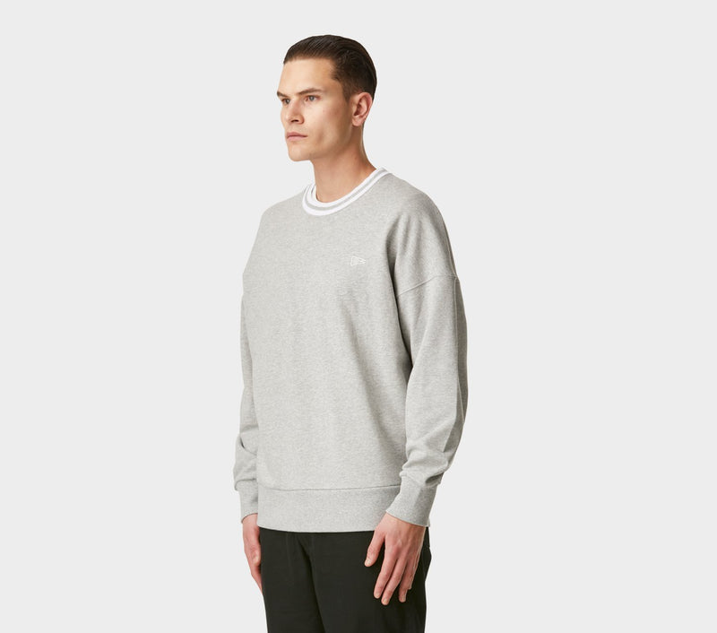 Stripe Ribbed Wallace Crew - Vintage Grey
