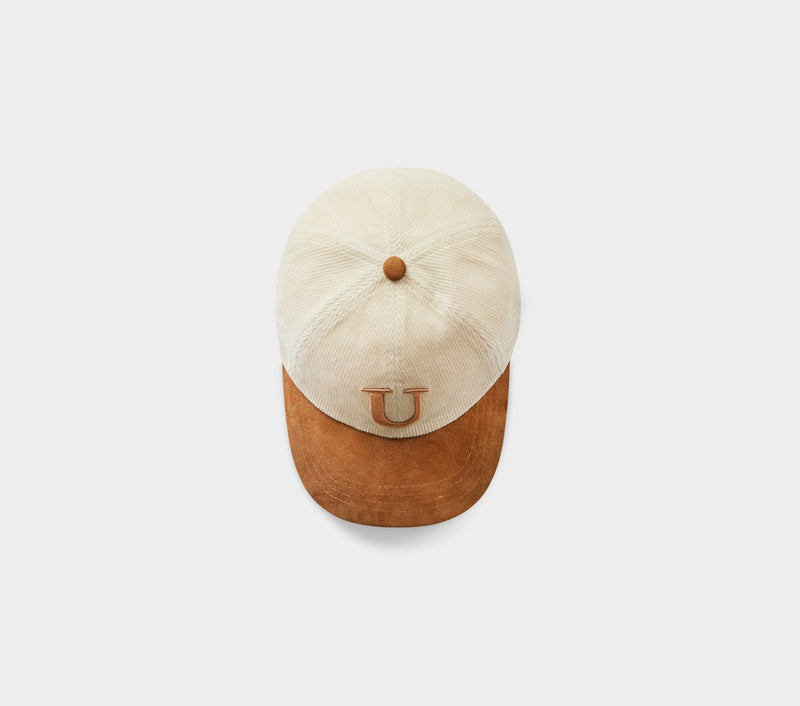 U Porter Cap - Tan Cord/Brown Suede