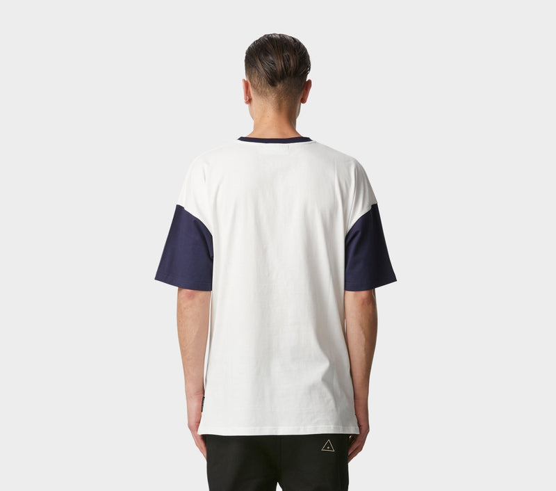 Baseball Tee - White/Navy