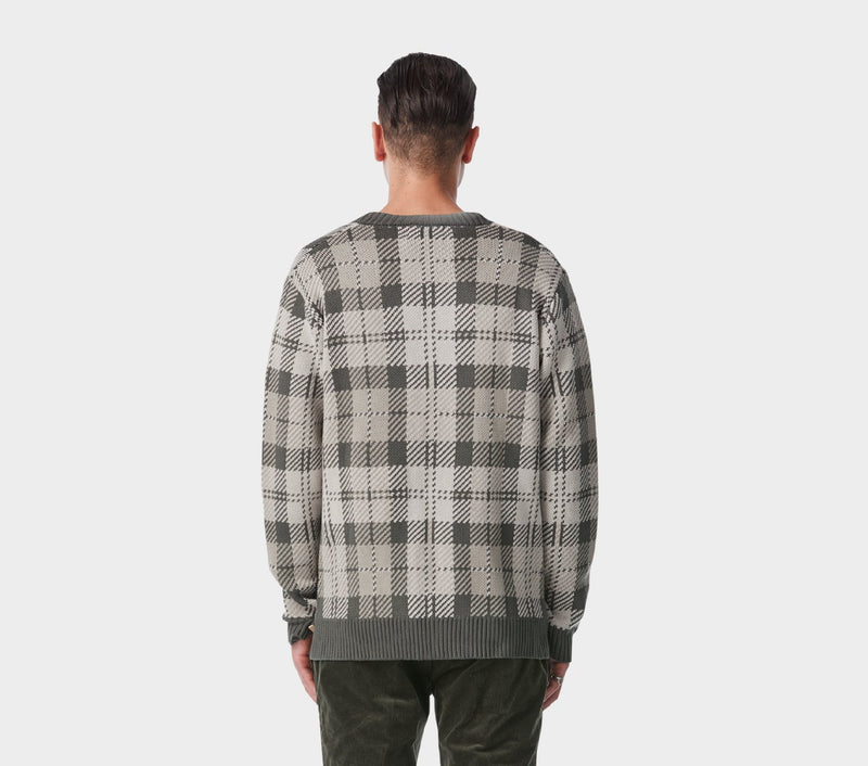 Check Alza Cardigan - Grey