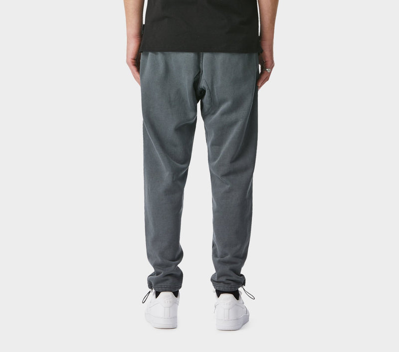 Utility Track Pants - Washed Black