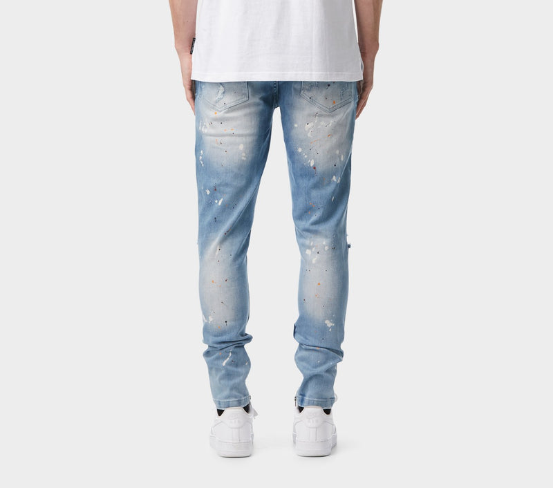Smart Zespy Pant Denim - Blotched Blue