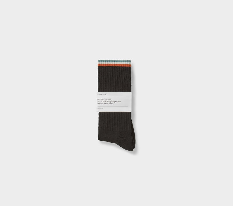 Striped Athletic Sock - Black