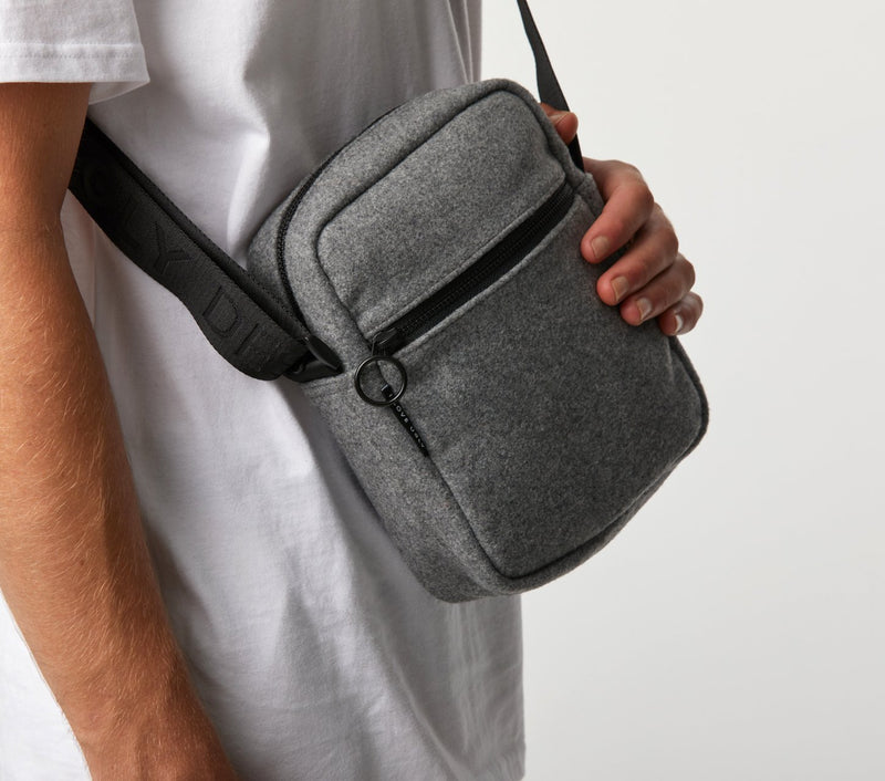 Wallace Messenger Bag  - Grey Wool