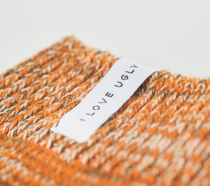 Speckled Sunday Sock - Tangerine Mutli