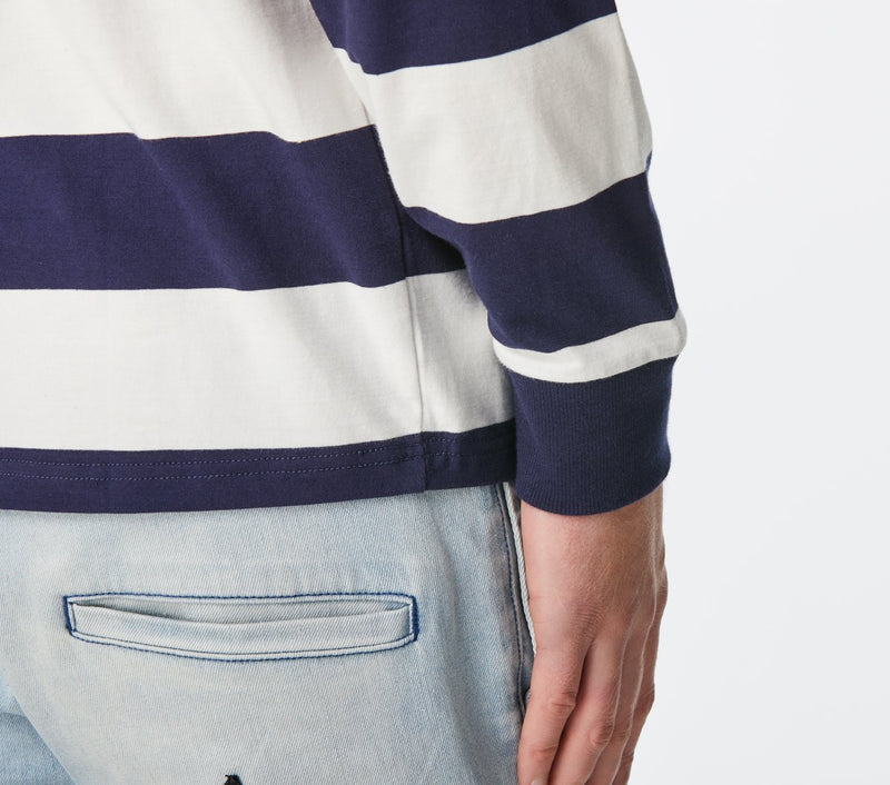 Long Sleeve Tee - Navy/White Stripe
